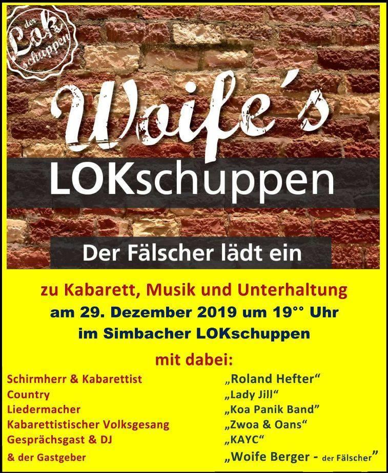 Woife's Lokschuppen mit Roland Hefter - Koa PANik Band - anderen